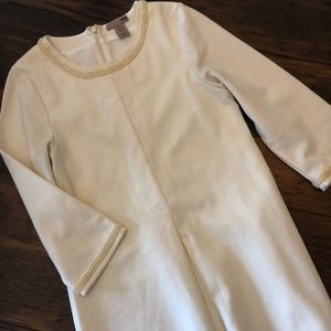 H&M Cream Detailed Tea Length Dress